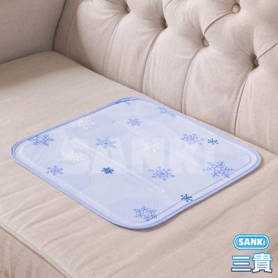 日本SANKI雪花紫冰涼枕坐墊40x40cm 1入