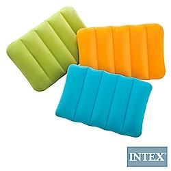 INTEX 彩色充氣枕-3色隨機 (68676)