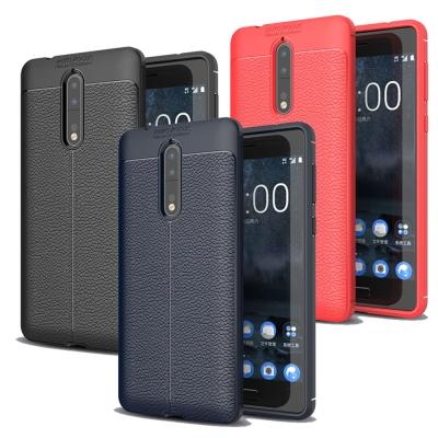 VXTRA Nokia 8 手感皮紋風 軟性手機殼