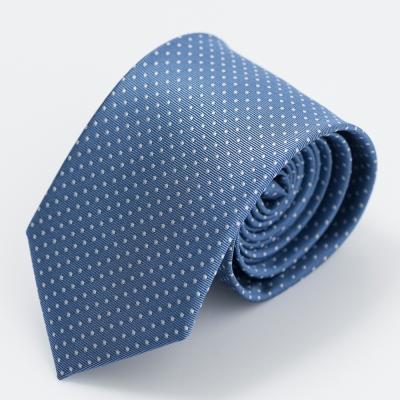 per-pcs 時尚紳士雅痞領帶_淺藍底點點(619-0026-3)