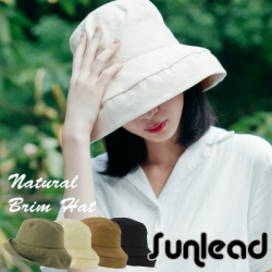 Sunlead 深寬緣折邊款。防曬抗UV小顏美型遮陽帽