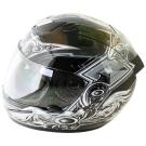 翅膀可掀式全罩安全帽TS41A-黑銀+新一代免洗安全帽內襯套6入-急速配