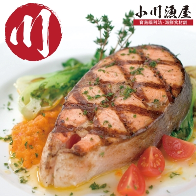 小川漁屋 純重挪威鱒鮭厚切3片(450g/片+-10%無包冰)