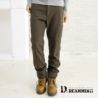Dreamming-機能型戶外防風防潑水厚刷毛雪褲-共二色