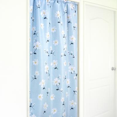 布安於室-思琪爾遮光超長門簾-藍色-寬140x高220cm