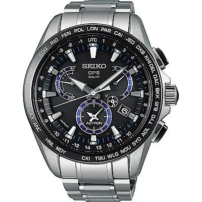 SEIKO精工ASTRON GPS 8X53雙時區鈦金屬衛星錶(SSE101J1)