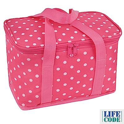 LIFECODE《小丸子》保冰袋/小冰包/便當袋 (6L) -桃紅