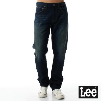 Lee 牛仔褲 726 Regional中腰標準小直筒-男款-刷色-藍