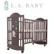 ( 美國 L.A. Baby) 達拉斯嬰兒床/搖擺中床/童床/原木床(深咖啡色) product thumbnail 1