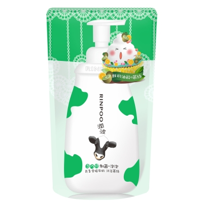 潤波 1/2全脂牛奶制菌沐浴慕絲補充包 700ml