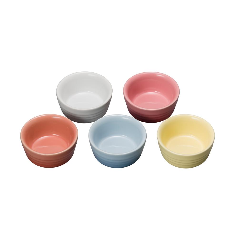 LE CREUSET 瓷器早餐小烤皿組5入 (暖陽5色)