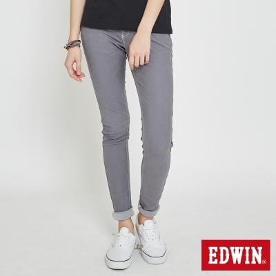 EDWIN 迦績褲JERSEYS立體剪裁磨毛色褲-女-灰褐色