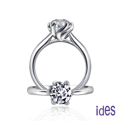 ides愛蒂思 GIA認證1克拉設計款E/VS1八心八箭完美3EX車工鑽石戒指/變化六爪