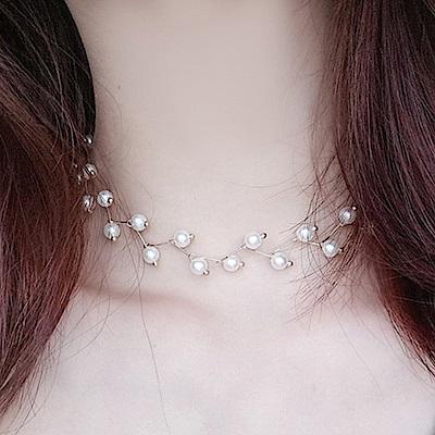 Hera 赫拉 choker樹枝珍珠頸鍊/短項鍊(金色)