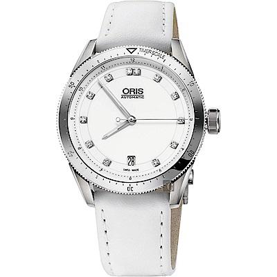 Oris豪利時 Artix GT 真鑽機械錶-白/37mm