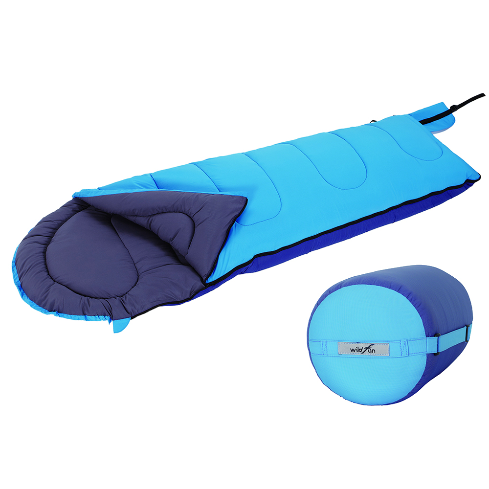 WildFun 野放抗菌防臭安心睡袋 水藍/深藍
