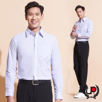 極品西服-高雅時尚直條紋長袖襯衫_淺紫(SW042-63)
