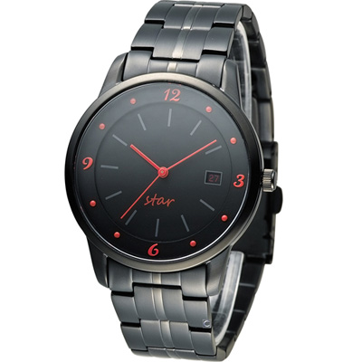 STAR 時代 永恆時光紳士腕錶-黑/40mm (9T1407-231D-R)