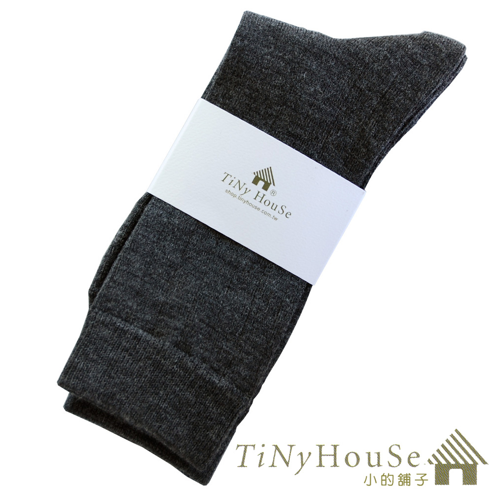 TiNyHouSe超細輕薄(1雙)保暖羊毛襪(鐵灰L)-中統輕薄款