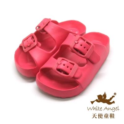 天使童鞋 M841A 記憶型氣墊拖鞋-桃