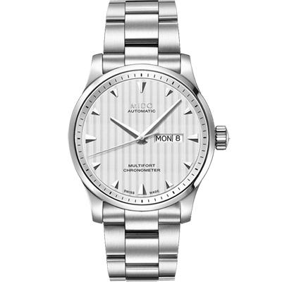MIDO 美度 Multifort 先鋒系列經典機械腕錶-銀/42mm