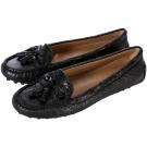 BALENCIAGA巴黎世家 流蘇綴飾休閒平底鞋(黑色)