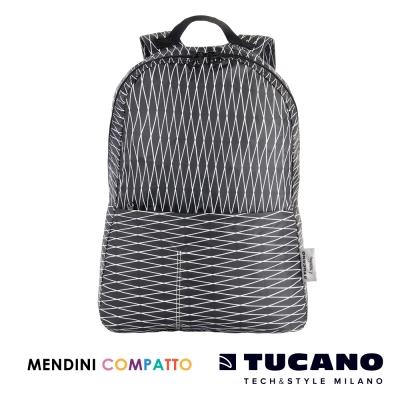 TUCANO X MENDINI 設計師系列超輕量折疊收納後背包-黑