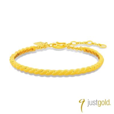 鎮金店Just Gold 環繞愛系列(純金)-黃金手環