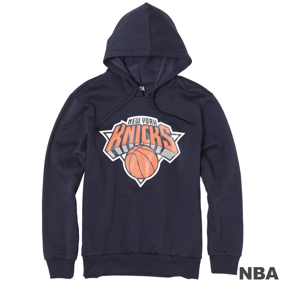 NBA-紐約尼克隊保暖連帽T恤-深藍(男)