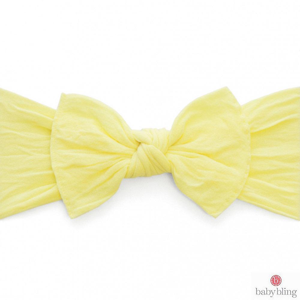 Baby Bling 大蝴蝶結寬版寶寶髮帶髮飾 - 檸檬黃