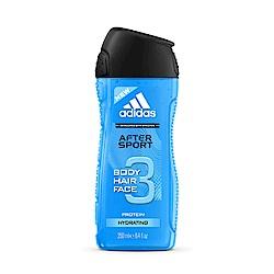 adidas愛迪達 男用三效活力潔顏洗髮沐浴露250ml