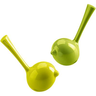 KOZIOL Pi鳥型調味罐(綠2入)
