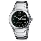 CASIO  世界富豪指針紳士錶(MTP-1229D-1A)-黑/37.5mm