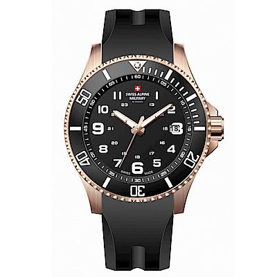 阿爾卑斯軍錶S.A.M 紅色警戒系列潛將-特攻金/橡膠錶帶/43mm