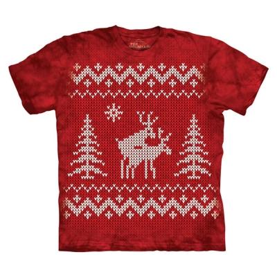 摩達客 美國進口The Mountain 聖誕麋鹿火辣辣 純棉環保短袖T恤