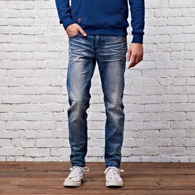 CACO-皮標水洗丹寧褲-2色