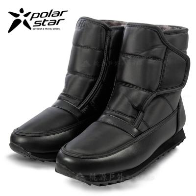 PolarStar 女 防潑水 短筒保暖雪鞋『黑』雪靴│冰爪 P13620