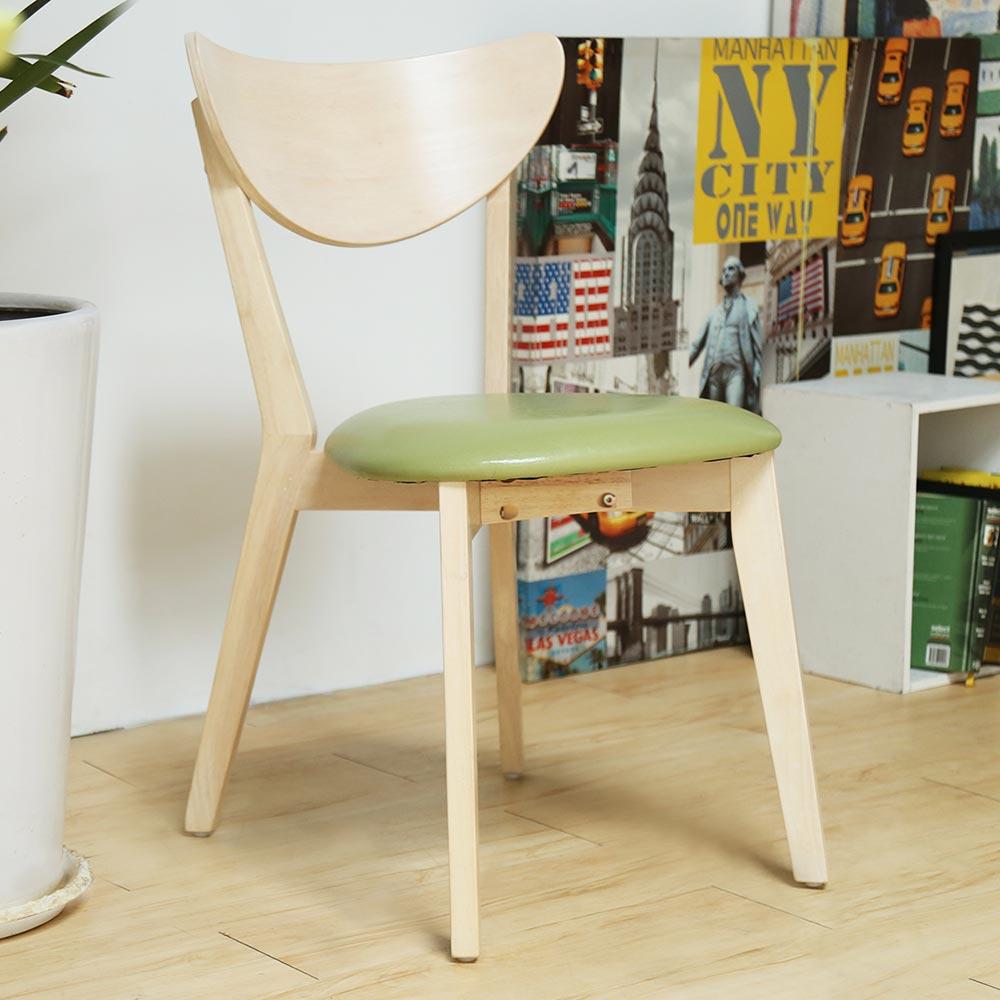 H&D LAVIN 日式木作餐椅-綠色