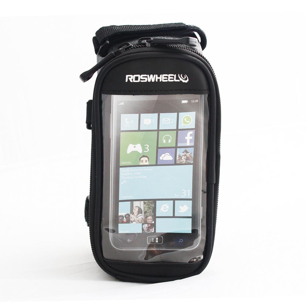 PUSH! 自行車用品 六代加大碼自行車前置物袋 手機袋 上管袋 工具袋