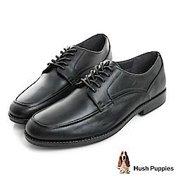 Hush Puppies BLOODHOUND 防潑水正裝皮鞋-黑