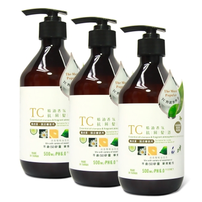 TC系列-精油香氛抗屑髮浴-500ml-3入組