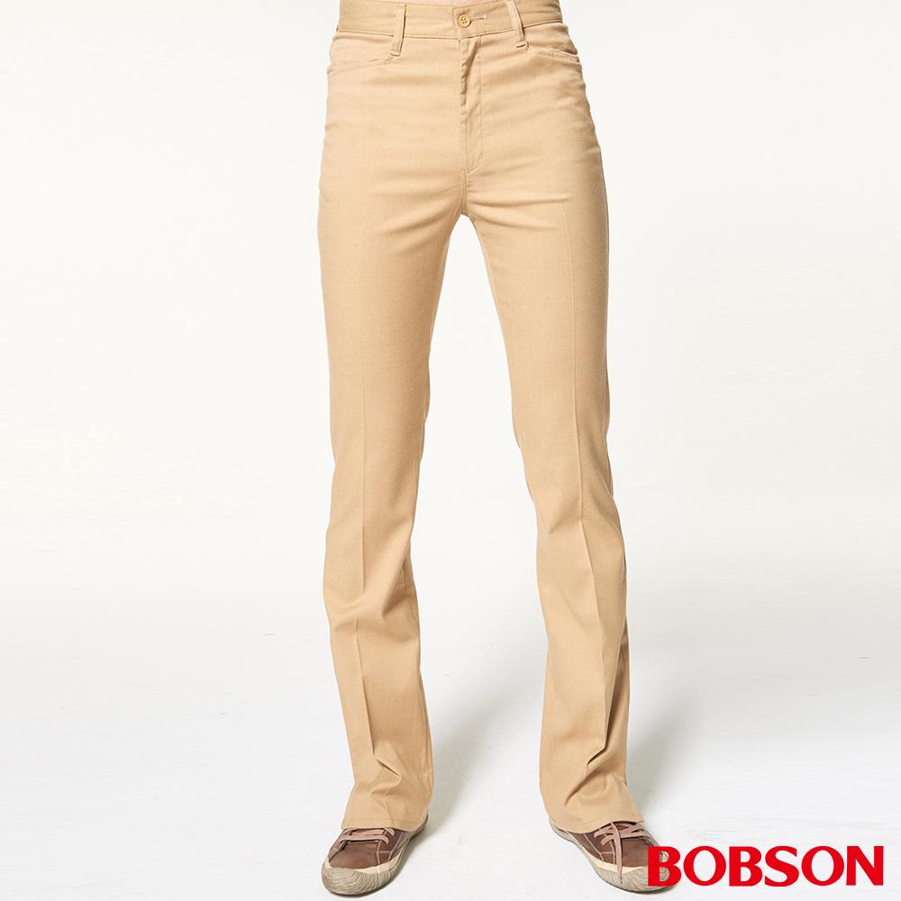 BOBSON 男款素面伸縮喇叭褲