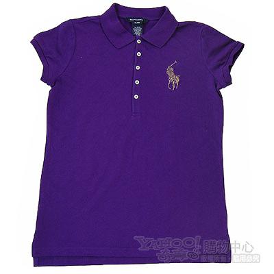 Ralph Lauren紫色純棉大馬POLO衫(青少年)