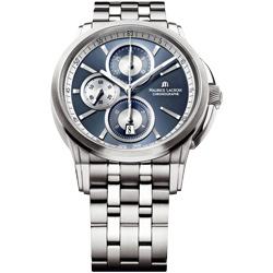 Maurice Lacroix 奔濤系列 商務菁英計時機械腕錶-藍/43mm