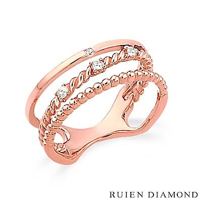 RUIEN DIAMOND 韓國輕珠寶 飾品 配件 14 K 玫瑰金 戒指 JR 5758
