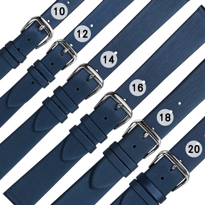 Watchband / 各品牌通用柔軟真皮錶帶-藍色