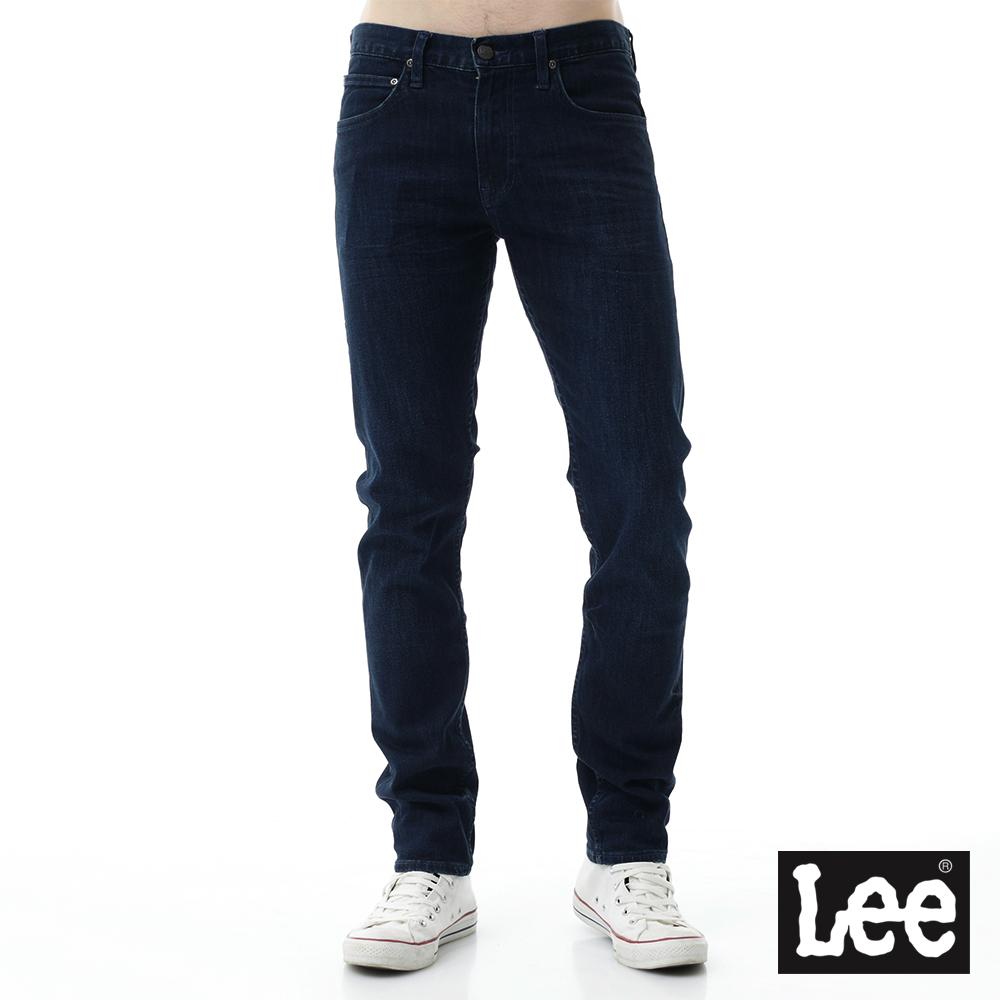 Lee 牛仔褲 706低腰合身窄管牛仔褲/SMU-男-藍