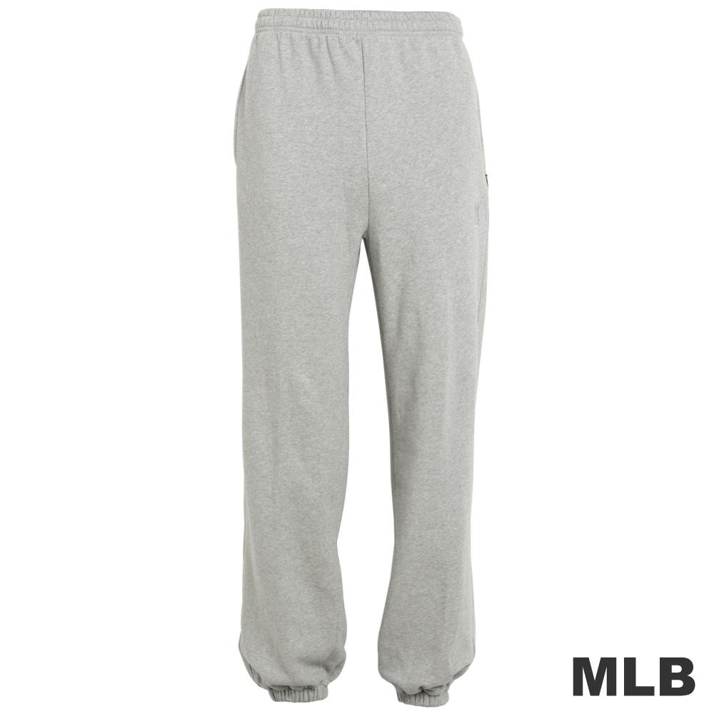 MLB-紐約洋基隊縮口繡花厚長褲-麻灰(男)