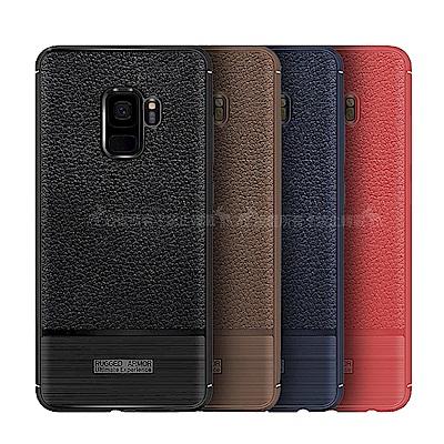 VXTRA Samsung Galaxy A6+ 防滑手感皮紋 軟性手機殼
