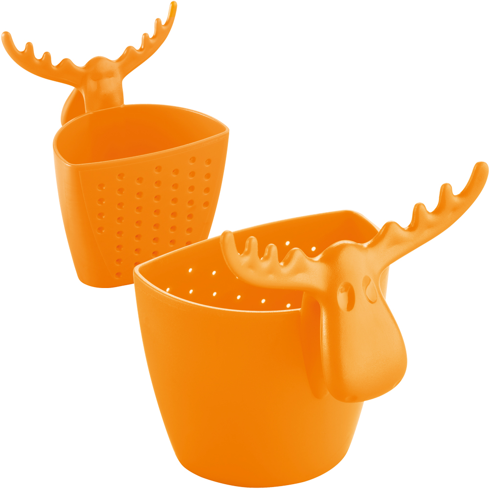 KOZIOL 麋鹿掛式濾茶器(橘)
